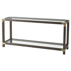Theodore Alexander Modern Classic Urbana Rectangular Brown Wood Console Table