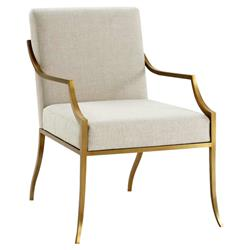 Theodore Alexander Modern Classic Wakefield Gold Metal Living Room Chair