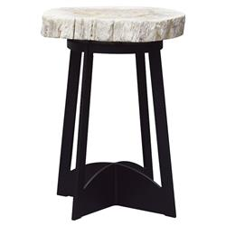 Tommy Bahama Alfresco Living Industrial Petrified Wood Outdoor Side End Table