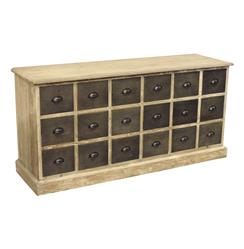 Rustic Lodge Reclaimed Pine Chunky Wood 18 Drawer Sideboard | HS-LD55