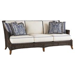 Tommy Bahama Island Estate Lanai Modern Woven Wicker Outdoor Cushion Sofa
