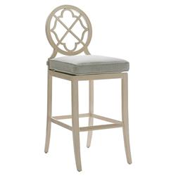 Tommy Bahama Misty Garden French Country Ivory Green Outdoor Bar Stool