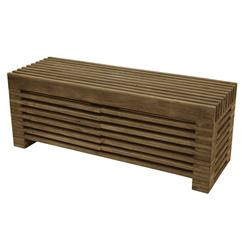 Zazenne Modern Wood Slats Masculine Entertainment Console | HS-HF197