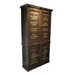 Edinburgh Estate Office Antique Black Cabinet