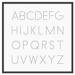 Blodwen Modern Classic English Alphabet Framed Canvas Art - II