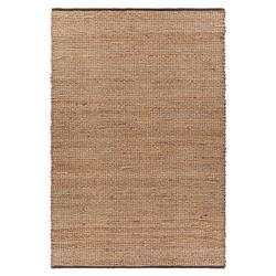 Bella Modern Brown Black Border Hand Woven Reversible Jute Rug - 5' x 7'6