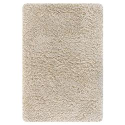 Evie Modern Beige New Zealand Wool Shag Rug - 5' x 7'6