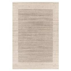 Ivy Modern Beige Brown Hand Woven Wool Rug - 5' x 7'6