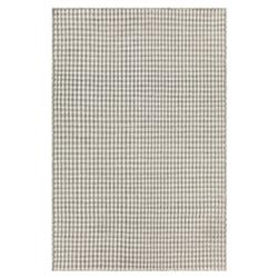 Maisie Modern Grey White Hand Woven Patterned Rug - 5'x7'6""