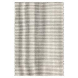 "Maisie Modern Grey White Hand Woven Flat Weave Rug - 7'9"" x 10'6"""