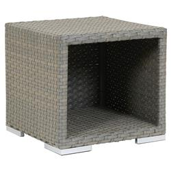 Sunset West Majorca Coastal Grey Square Outdoor Side End Table