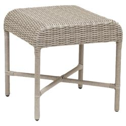 Sunset West Manhattan Coastal Grey Square Outdoor Side End Table