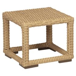 Sunset West Leucadia Coastal Brown Square Outdoor Side End Table
