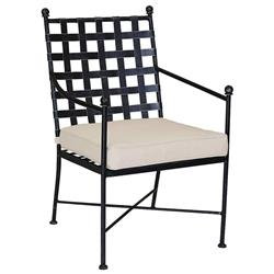 Sunset West Provence French Beige Cushion Metal Outdoor Dining Arm Chair