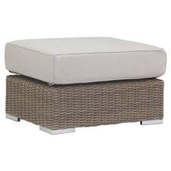 Sunset West Coronado Coastal Beige Cushion Rectangular Brown Outdoor Ottoman