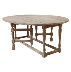 Swedish Gustavian Gray Oval Gate Leg Drop Leaf Dining Table | HS-SN214