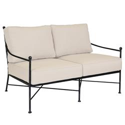 Sunset West Provence French Beige Cushion Metal Outdoor Loveseat