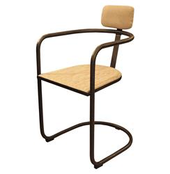 Gorky Industrial Loft Deco Style Tubular Steel Arm Chair