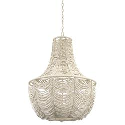 Palecek Cabrillo Coastal Beach White Coconut Shell Beaded Chandelier