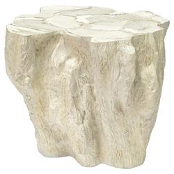 Palecek Camilla Coastal Beach White Inlaid Fossilized Clam Side End Table