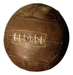 Silver dome Vintage Leather European Football Tabletop Decor
