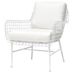 Palecek Olsen Coastal Beach White Aluminum Outdoor Lounge Chair
