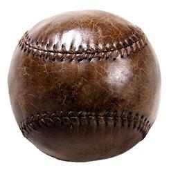 Silver dome Vintage Leather Baseball Tabletop Shelf Decor