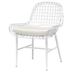 Palecek Olsen Coastal Beach White Aluminum Outdoor Side Chair