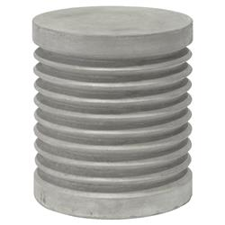 Palecek Pompeii Modern Classic Natural Stone Outdoor Stool Table - Grey