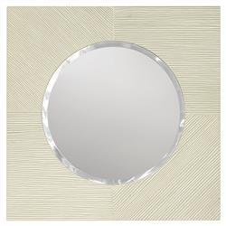 Palecek Porto Hand Distressed White Wash Hardwood Square Wall Mirror