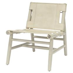 Palecek Whiskey White Wash Cashew Leather Cane Lounge Chair