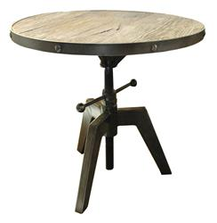 Sumner Round Industrial Adjustable Swivel Accent Side Table