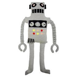 Meri Meri Ziggy Modern Grey Knitted Cotton Robot Toy