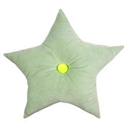 Meri Meri Modern Cotton Velvet Mint Green Star Cushion