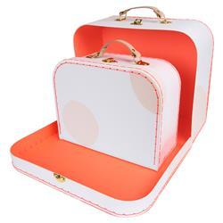 Meri Meri Modern Pink Spot Suitcase Set