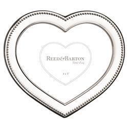 Reed & Barton Precious Heart™ Modern Classic Silver-Plated Figural 4x3 Frame