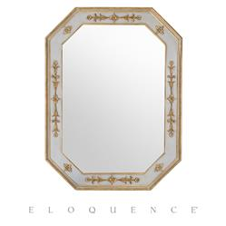 Eloquence French Country Style Tulipe Chalk Grey Gold Mirror