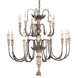 Katrina Antique Silver French Country 14 Light Chandelier