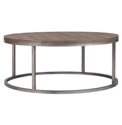 Colby Modern Industrial Loft Reclaimed Wood Coffee Table | SCH-240235