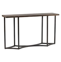 Hudson Modern Geometric Diamond Pattern Iron Console Table
