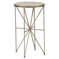 Carole Regency Star Burst Base End Table
