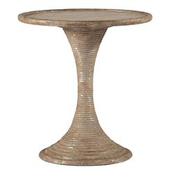 Gloria Antique Gold and Silver Leaf Hour Glass End Table