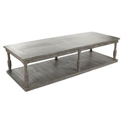 Flores French Country Grey Fiber Glass Rectangular Coffee Table