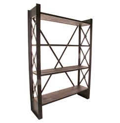 Industrial Loft Reclaimed Wood Bookcase | BOT-INDJE071