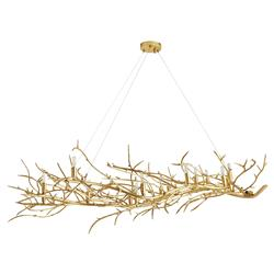 Arteriors Sherwood Modern Antique Brass Gold Finish Iron Branches Chandelier
