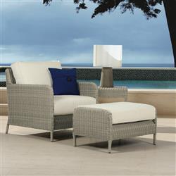 Tremendous Sunset West Manhattan Modern Grey Outdoor Club Chair Ottoman And End Table Set Cjindustries Chair Design For Home Cjindustriesco