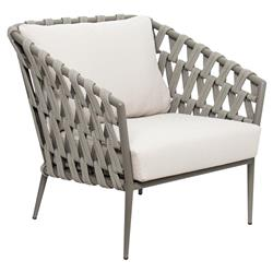 Lukas Modern Classic Grey Woven Metal Outdoor Lounge Chair - Set of 2