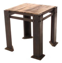 Rigger's Reclaimed Teak Wood Chunky Leg Side Table