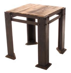 Rigger's Reclaimed Teak Wood Chunky Leg Side Table