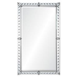 Denise French Country Convex Hand Cut Mirror Framed Rectangle Wall Mirror